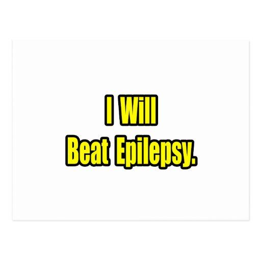 I Will Beat Epilepsy Postcard