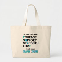 I will beat Graves' Large Tote Bag
