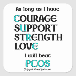 I will beat PCOS Square Sticker