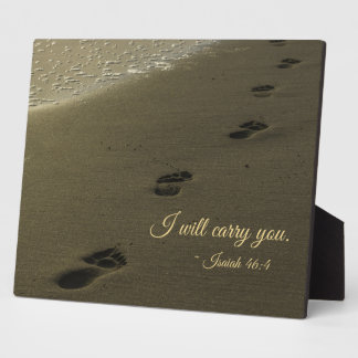 I Will Carry You Sand Footprints Plaque