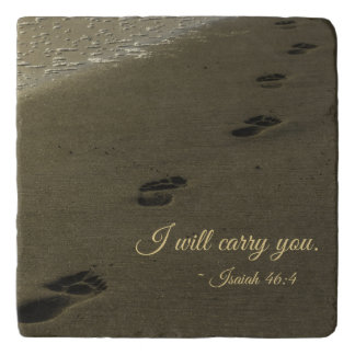 I Will Carry You Sand Footprints Trivet