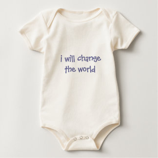 i will change the world baby bodysuit