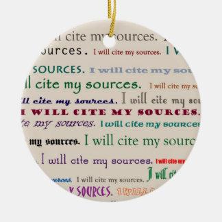 I will cite my sources ceramic ornament