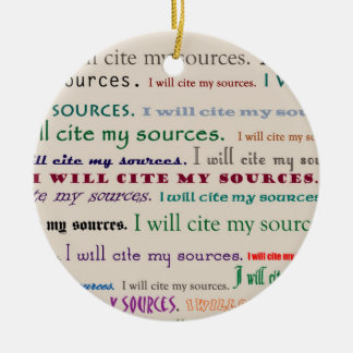 I will cite my sources Double-Sided ceramic round christmas ornament