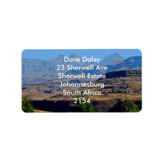 I will climb the highest mountain address label