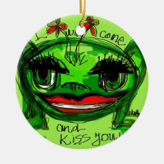i will come and kiss you ceramic ornament