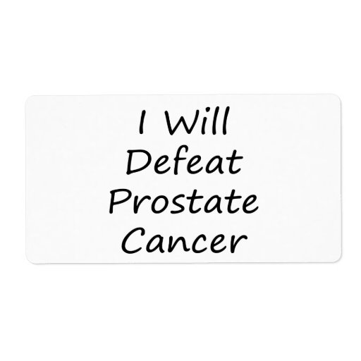 I Will Defeat Prostate Cancer Shipping Label