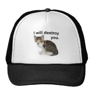 I will destroy you trucker hat