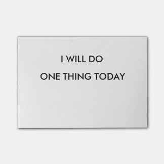 I Will do One thing Today Post It Notepad Post-it® Notes