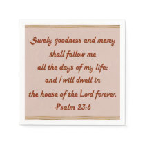 I Will Dwell in the House of the Lord Forever Paper Napkin