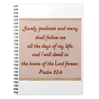 I Will Dwell in the House of the Lord Notebook
