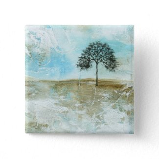 I Will Endure Square Pin From Original Painting