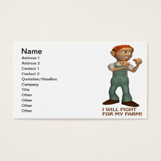 I Will Fight For My Farm Business Card