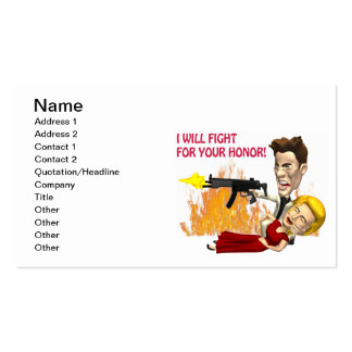 I Will Fight For Your Honor Double-Sided Standard Business Cards (Pack Of 100)