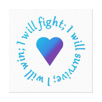 I WIll Fight Suicide Awareness Canvas Print