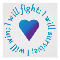 I WIll Fight Suicide Awareness Poster