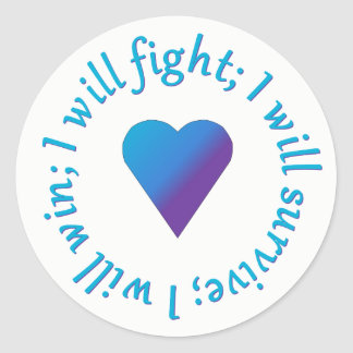 I WIll Fight Suicide Awareness Stickers