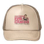 I Will Fight & Win - Too Tough For Breast Cancer Hats