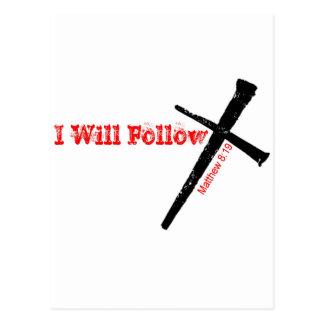 I Will Follow Postcard