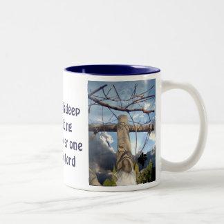 I will give praise_ Two-Tone coffee mug