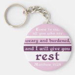 I Will Give You Rest Key Chains