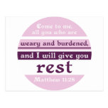 I Will Give You Rest Post Card