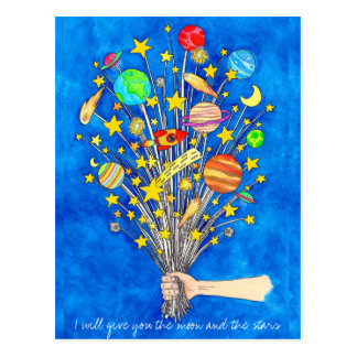 I will give you the moon and the stars postcard