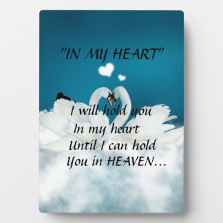 """""""I WILL HOLD YOU IN MY HEART"""" PHOTO PLAQUE"""