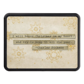 I will HOnor Christmas Charles Dickens Snowflake Trailer Hitch Cover