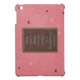 I Will Honor Christmas Pink Brown Design iPad Mini Cover
