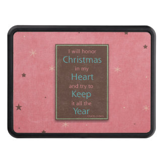 I Will Honor Christmas Pink Brown Design Trailer Hitch Covers