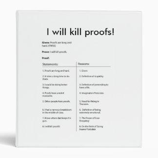 I will kill proofs Binder