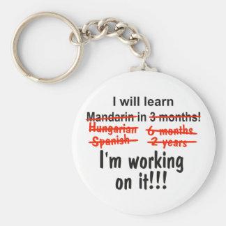 I will learn Mandarin in 3 months! Keychain