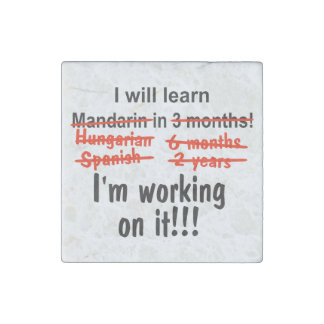 I will learn Mandarin in 3 months! Stone Magnet