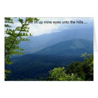 I Will Lift up  Mine Eyes Card