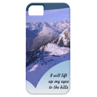 I will lift up my eyes to the hill the French alps iPhone SE/5/5s Case