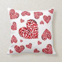 I will love forever - Red love heart Throw Pillow