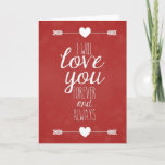I Will Love You Forever And Always Cute Card