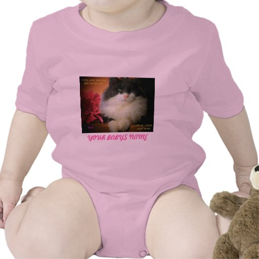 i WILL LOVE YOU ONE OF MY NINE LIVES Baby Bodysuit
