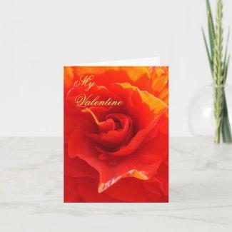 I will love you until... Valentine Voucher card card