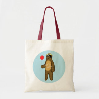 I will lure you back with balloons budget tote bag