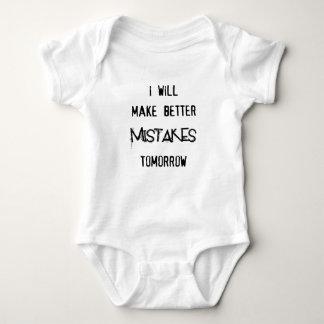 i will make better mistakes tomorrow baby bodysuit