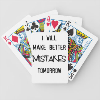 i will make better mistakes tomorrow bicycle playing cards