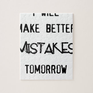 i will make better mistakes tomorrow jigsaw puzzle