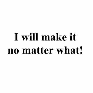 I will make it! black txt statuette