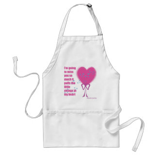 I will miss you adult apron