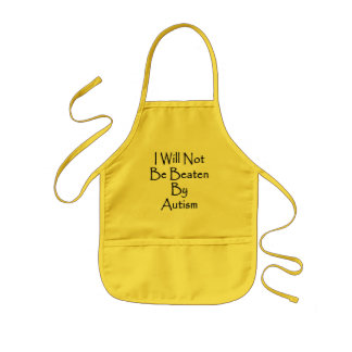 I Will Not Be Beaten By Autism Aprons