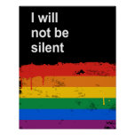 I will not be silent posters