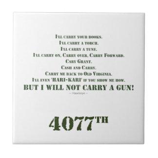 I Will Not Carry a Gun Tiles