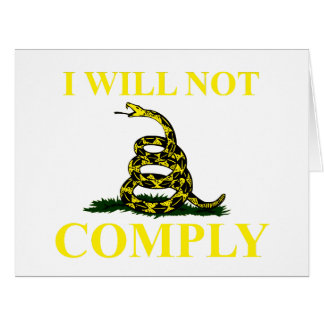I Will Not Comply Large Greeting Card